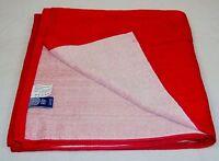 Red Cotton Bath Wrap / Sauna Towel / Tanning Blanket 30 X 60 Y850