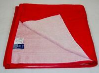 Red Cotton Bath Wrap / Sauna Towel / Tanning Blanket 30 X 60 Y850