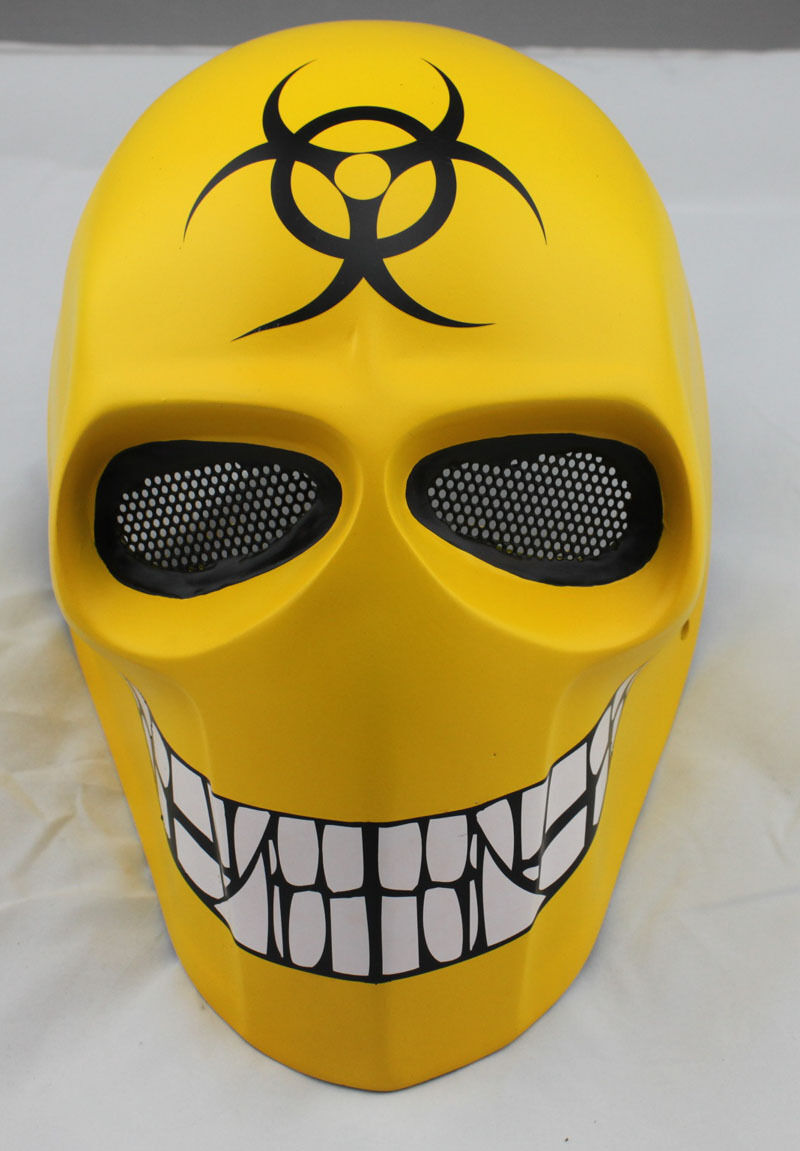NEW Fiber Resin Wire Mesh Eye Airsoft Paintball Full Prossoection Mask Halloween