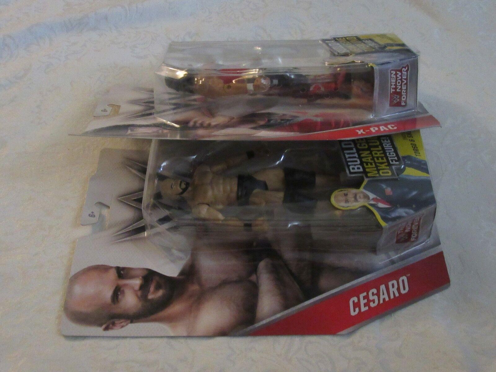 Mattel Mean WWE Then Now Forever BAF Mean Mattel Gene Okerlund Figure Triple H Lot of 2 47236c
