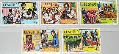 Clever Lesotho 1974 151-55 Youth & Development Jugend Entwicklung School Schule Mnh