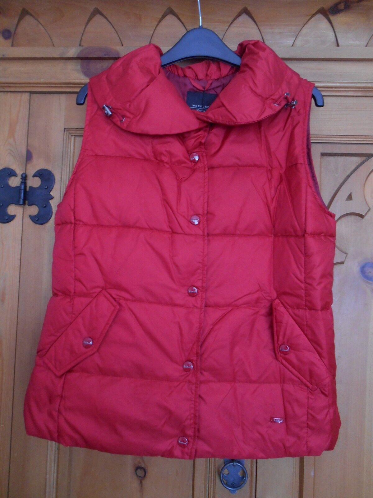 Authentic Max Mara Maxmara Weekend Red Down Gilet Body warmer Bnwt 8 10