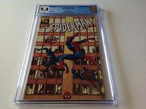 SPIDER-MAN 1/2 WIZARD CGC 9.4 WHITE PGS RARE SPECIAL RED FOIL ED MARVEL COMICS