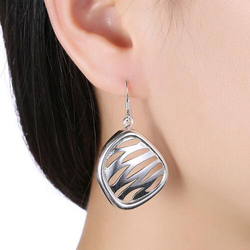 925 Silver WATERWAVE Drop femmes Bijoux Fashion Boucles d/'oreilles Dangle BE957