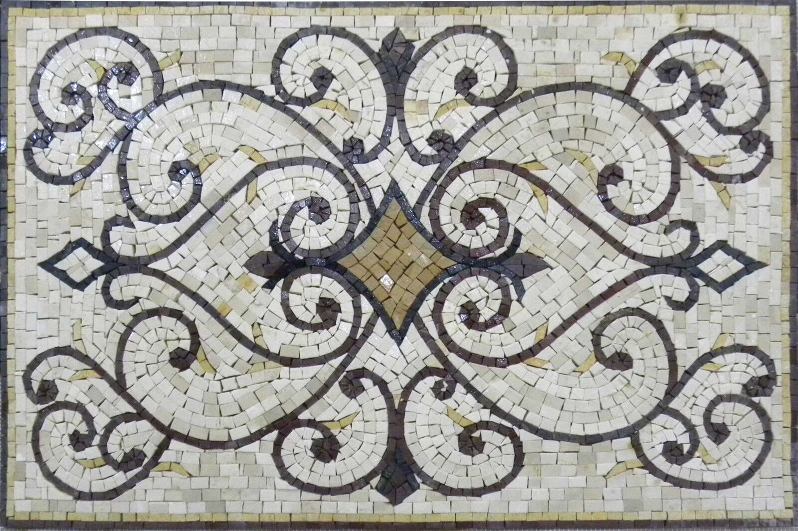 Rectangular Rug Mosaic Art Tile Design Pattern - Varinad
