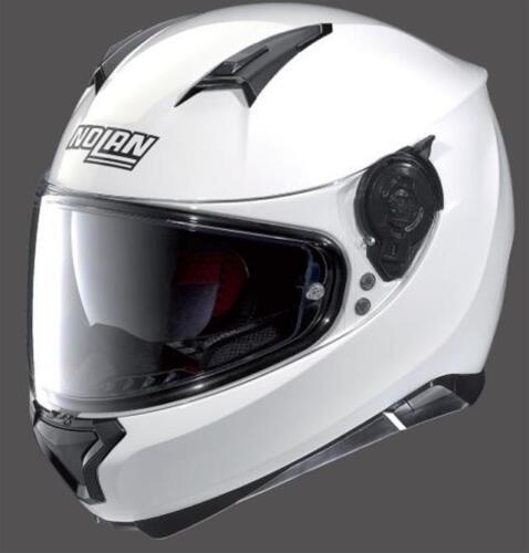 CASCO MOTO INTEGRALE NOLAN N87 SPECIAL PLUS N-COM PURE WHITE//BIANCO TG.M