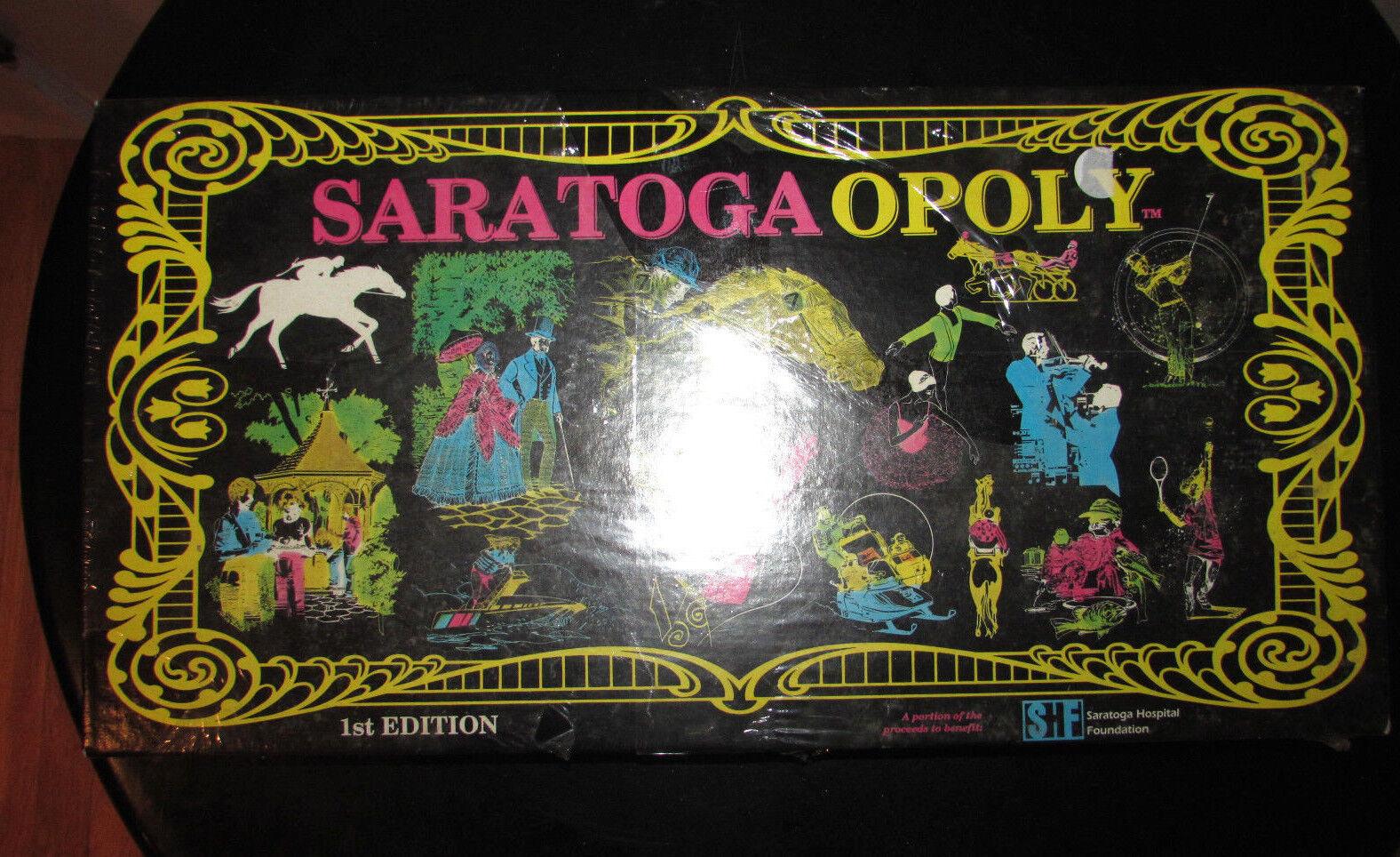 NEW SARATOGAOPOLY SARATOGA MONOPOLY BOARD GAME 1984 UPSTATE NY 1ST EDITION