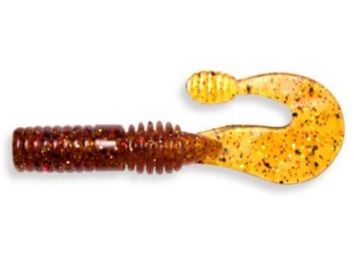 7cm 5pcs vinilos señuelos per pack Crazy Fish Powertail