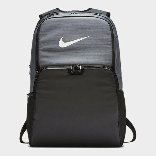 NWT Nike Brasilia XL Training Backpack Gray BLACK School Gym Bag BA5959 026