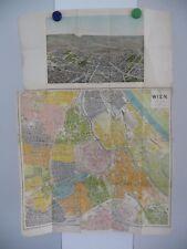 Antique / Ancien Stadt  plan Wien Vienne vers 1910 / Hartlebens Verlag