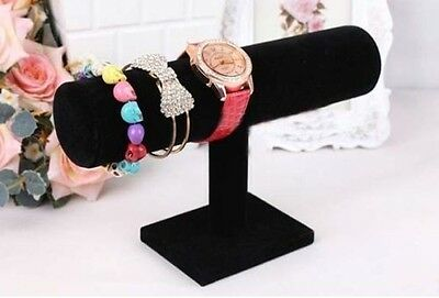 Black Velvet Stand for Bracelet Chain Bangle Watch Jewelry Display T-bar Rack