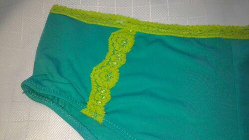 WOMENS panties plus boyshorts green lime lace D6 size 3X,4X