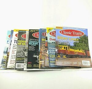 Classic-Trains-Magazines-Lot-of-11-Between-2004-and-2019-Kalmbach-Railroads