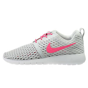 063b02a8ea083 Nike Roshe One Flight Weight Big Kids 705486-006 Platinum Pink Shoes ...