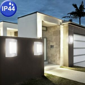 Set-of-3-Outdoor-Wall-Lights-Facades-Stainless-Steel-Spotlights-Spotlights-Lamps