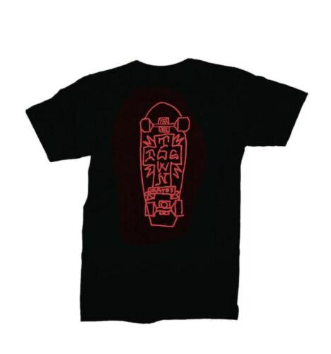MARK GONZALES ART 2 T SHIRT DOGTOWN S M L XL XXL SKATEBOARD BLACK// RED GONZ