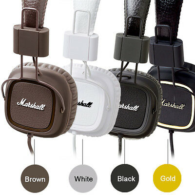 Marshall Major On-Ear With Mic Headphones for iPhone iPod Touch Classic Nano MP3