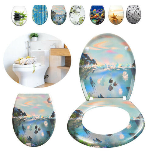 WC Sitz Toilettensitz Klodeckel mit Absenkautomatik Toilettendeckel WC-Deckel