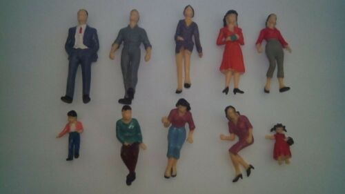 100x Building Model Trains 1:25 Scale Painted Figures G