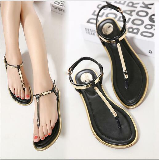 Women Chic Summer Simple Light Sandals Casual Casual Sandals Flat Clip Toe Beach Shoes Slippers fca700