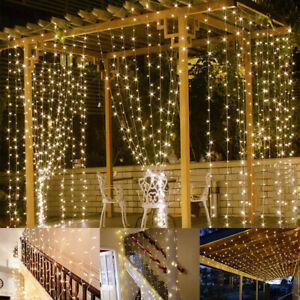 String Fairy Lights Plug In Garden Lights 100 500 Led Curtain Bedroom Lights Uk Ebay