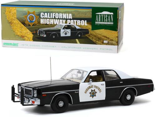 "1975 DODGE CORONET CALIFORNIA HIGHWAY PATROL /""CHP/"" 1//18 DIECAST GREENLIGHT 19075"