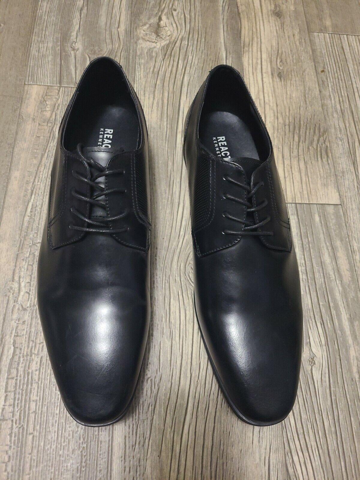 Kenneth Cole Reaction Men's Black Lace-Up Shoes (SIZE 13)