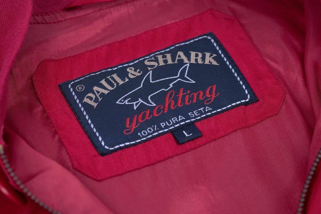 Paul & Shark Yachting Men's Red Silk Bomber Jacke… - image 9