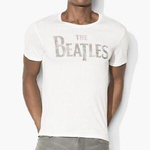 John-Varvatos-Star-USA-Men-039-s-Short-Sleeve-The-Beatles-Logo-Crew-Tee-Shirt-Salt