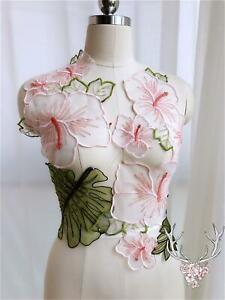 1-Set-Elegant-Lotus-Embroidery-Lace-Applique-Floral-Patches-Materials-Appliques