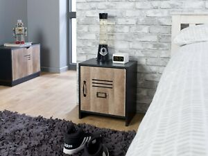 Industrial Locker Bedroom Furniture Wardrobe Bedside Cabinet Drawers Storage