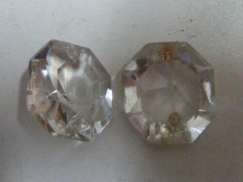 6 PAMPILLES OCTOGONES t:2.00cm sd 2.20cm pour lustre