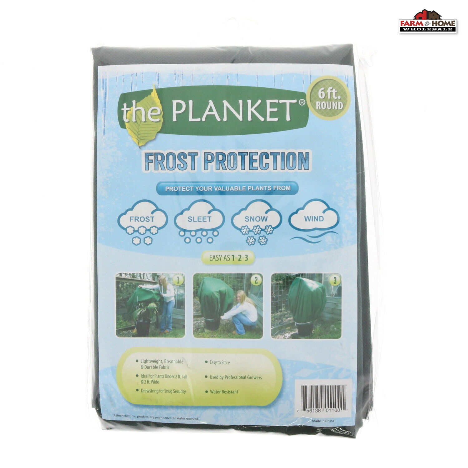 (2) The Planket Frost Protection Plant Cover 6 ft Round ~ NEW