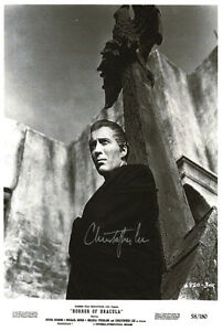 Christopher Lee Horror Of Dracula (Autographed) movie ...