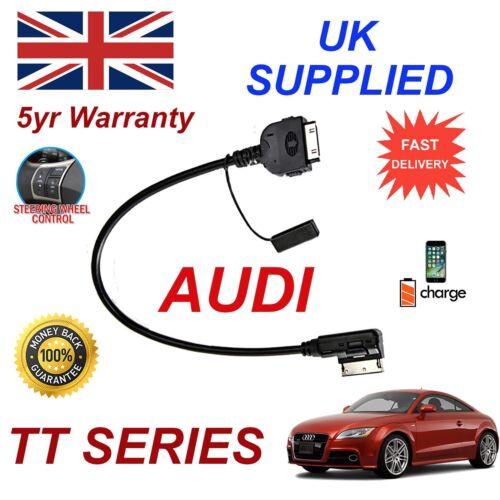 Para Audi TT 4F0051510K Ami Mmi iPhone 3gs 4 4s 30p Ipod MP3 USB Cable de Audio 09+