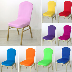 Simple Stretch Dining Chair Covers, Round Back Dining Room Chair Covers