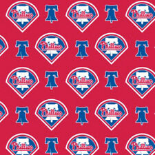 MLB PHILADELPHIA PHILLIES COTTON FABRIC MATERIAL Fabric Sold By The 1//2 Yard!