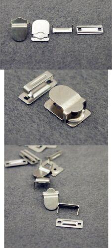 20 sets de 4 pieces Agrafes pour pantalons métal argent