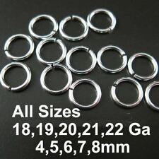 Sterling Silver Open Jump Rings (All Sizes) Wholesale Bulk Lots