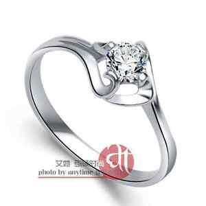 Vivi Ladies Engagement Sterling Silver Diamond Ring 8438a Birthday