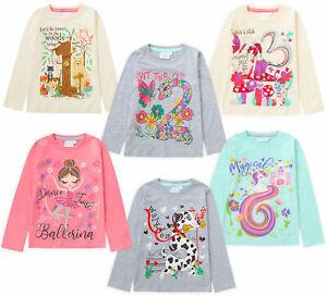 Girls Boys Long Sleeve TShirt Top I Am 1 2 3 4 5 6 Age Number Birthday Gift Idea
