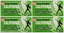 4 BOXES CALIFORNIA DIETERS' DRINK EXTRA STRENGTH TEA 1.76 OZ (20 Tea Bags)