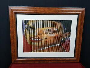 Malipiero-Collage-Dipinto-Poesia-Visiva-Quadro-Grace-Jones-Liza-Minelli-Cornice