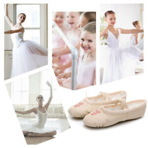 Girl-Pink-Leather-Ballet-Pull-on-Dance-Shoes-Medium-Split-Sole-Toddler-Dancewear