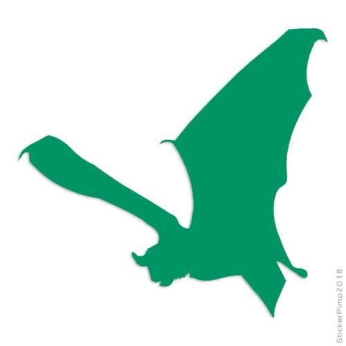 Flying Bat Decal Sticker Choose Color Size #1291
