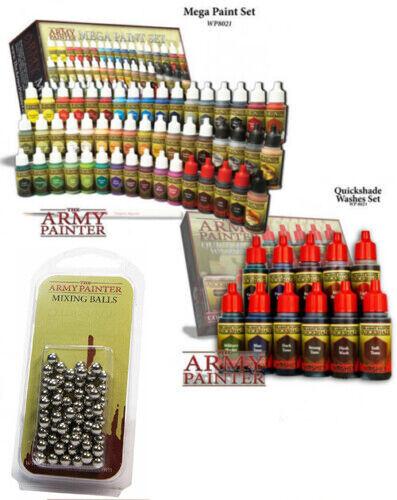 Army Painter Warpaints  Mega Paint, Quickshade Washes Sets & Mixing Balls