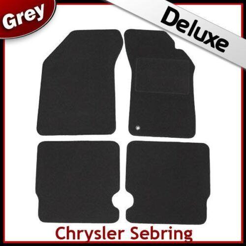 Chrysler Sebring Mk3 2007-2010 A Medida De Lujo 1300g Alfombra Coche Tapetes Gris