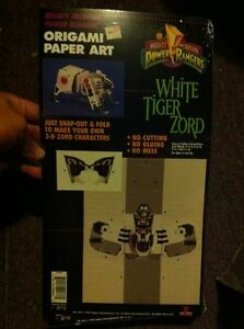 Image Is Loading 1994 Mighty Morphin Power Rangers White Tiger Zord