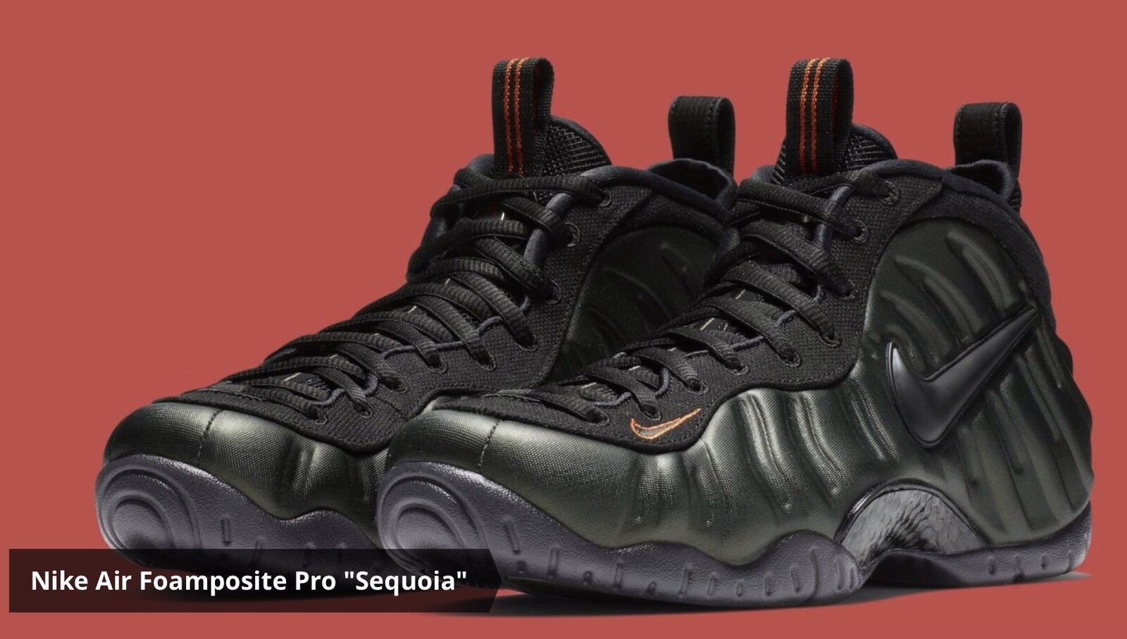 DS MENS NIKE AIR FOAMPOSITE PRO SEQUOIA BLACK 624041 304 BB SZ 11 BUSTED BOX