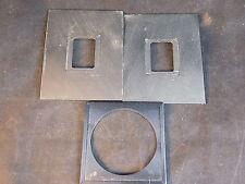 """3"""" by 4"""" Kodak ELECTRON MICROSCOPE FILM carrier 1 5/16"""" opening"""